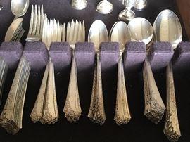 Heirloom Damask Rose Sterling Silver Flatware Set