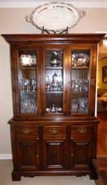 Ethan Allen Pine China Cabinet
