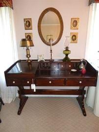 Ethan Allen Pine desk with chair