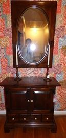 Ethan Allen Pine Console with Mirror