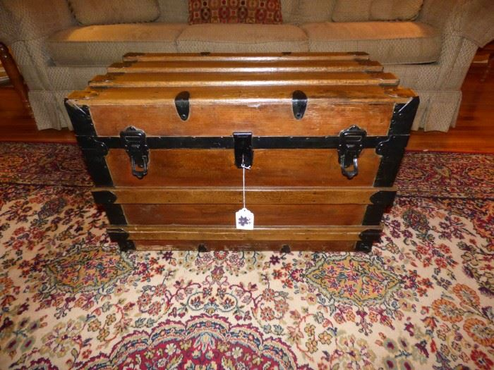Antique refurbished trunk