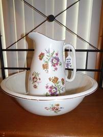 Antique Porcelain Bowl & Pitcher for wash stand