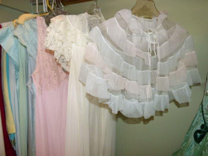 Vintage Bed Jacket, gowns