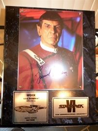 Spock signed by Leonard Nimoy photograph Star Trek collectible