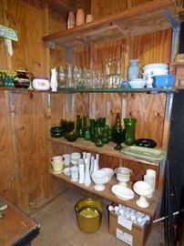 Many flower arranging vases, Supplies, etc