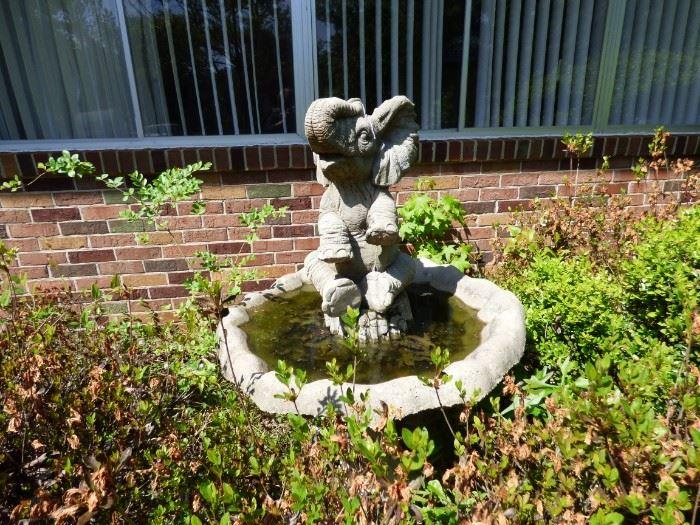 Elephant Bird Bath