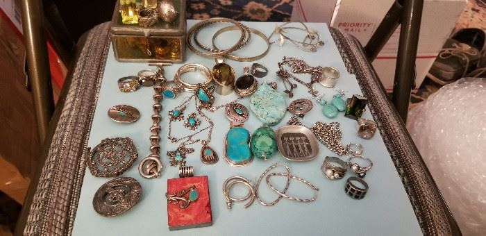 silver and costume jewelry