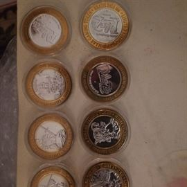 limted edition fine silver gaming tokens