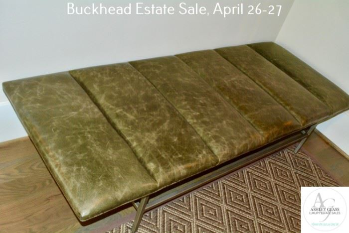 27 Bench and Art29 Bench and Art29 Foyer Leather Bench