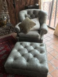 Chair and matching ottoman $275