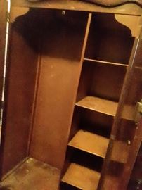 Inside of Tall Vintage Armoire.