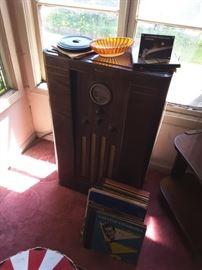 Philco short radio cabinet.