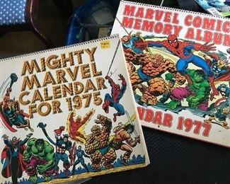 vintage Marvel calendars