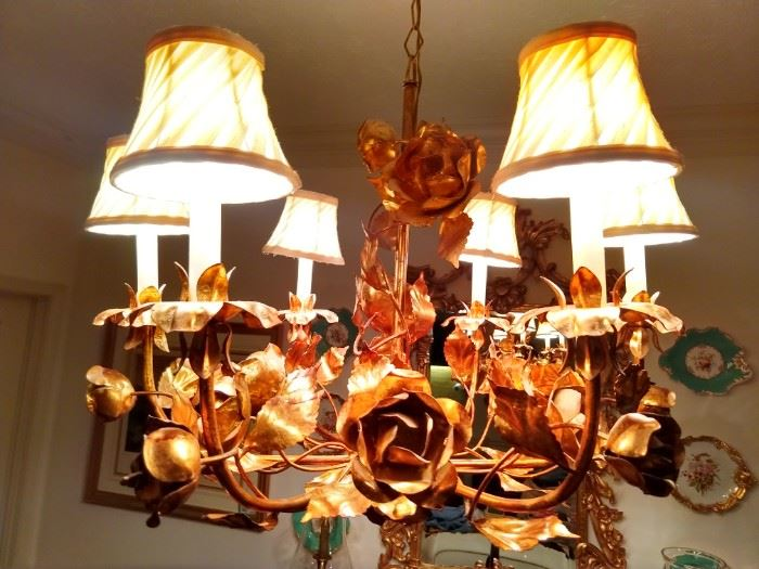 Vintage 6-light Spanish chandelier.