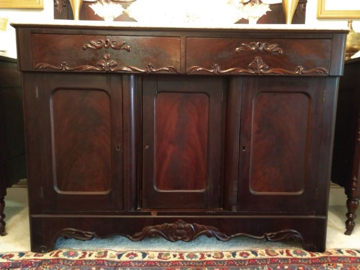 Front view of the Victorian sideboard,