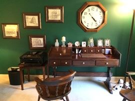 Howard Miller clock, frames Table not included.