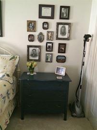 Antique side blue table