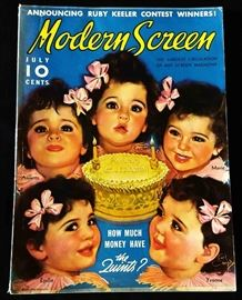 "1936 ""Modern Screen"" Magazine with Cover Art by Earl Christy"