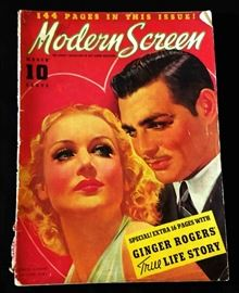 "1937 ""Modern Screen"" Magazine with Cover Art by Earl Christy"