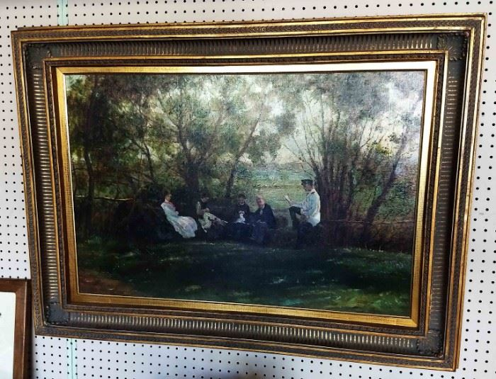 Large Vintage Oil on Canvas, Artist Signed N. Jacobs