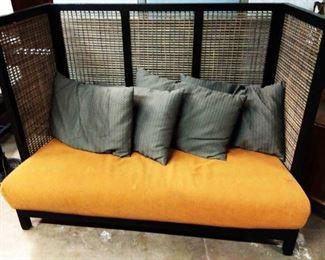 Vintage Bamboo Hall Sofa