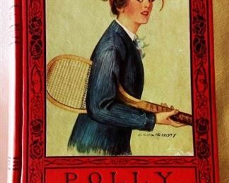 "Antique Book: ""Polly A New Fashioned Girl "" by Mrs. L. T. Meade with Earl Christy Cover Artwork"
