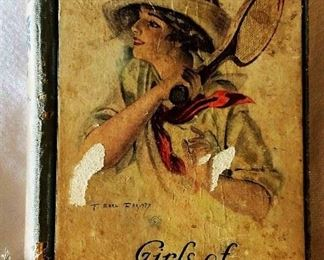 "Antique Book: ""Girls of the True Blue"" by Mrs. L. T. Meade with Earl Christy Cover Artwork"
