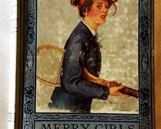 "Antique Book: ""Merry Girls of England"" by Mrs. L. T. Meade with Earl Christy Cover Artwork"
