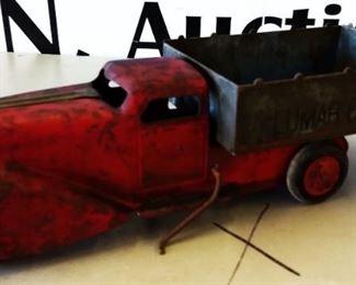 "Vintage ""Lumar Coal Co."" Metal Toy Truck"