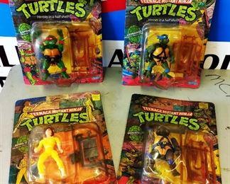1988 Teenage Mutant Ninja Turtles Action Figurines, Unopened