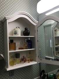 Perfume bottles - cabinets Not for sale