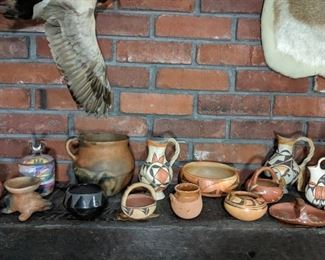 Indian hand made pottery