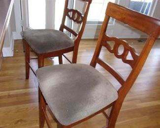2 barstools that match kitchen table chairs (8 chairs total).