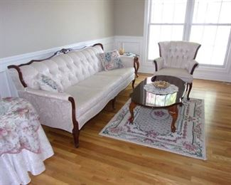 Antique sofa and two chairs