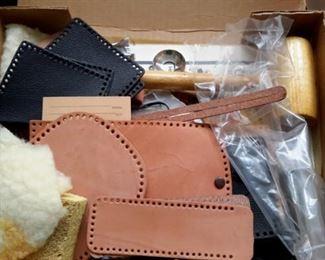 Leather craft set w/tools.