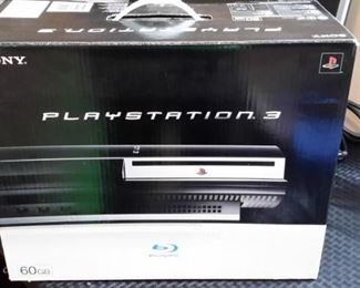 Playstation 3, like new, in box.