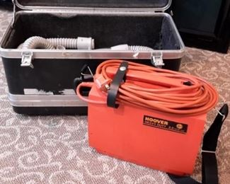 Vintage Hoover vacuum in carrying case.