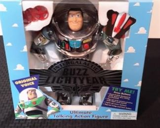 Toy Story's Buzz Lightyear Ultimate Talking Action Figures, new in box. Needs batteries.