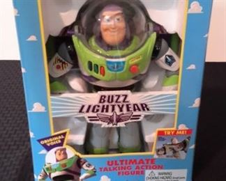 Toy Story's Buzz Lightyear Ultimate Talking Action Figures, new in box. Working.