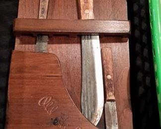 """""""Old Hickory"""" knife set."""