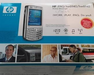 HP iPAQ Mobile Messenger, like new, in box with accessories.