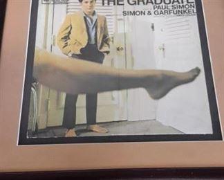 """Framed """"The Graduate"""" album cover."""