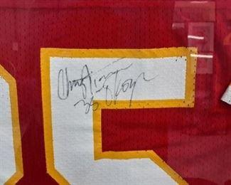 "Framed and signed ""Okoye"" jersey."