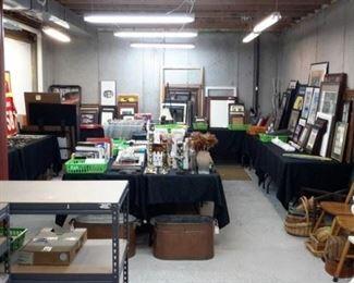 Artwork, frames, books, records, knick knacks, etc.