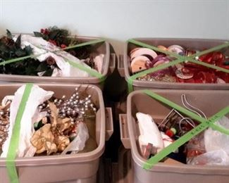 Christmas decoration boxes.