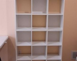 Two cubby shelves (one on top of the other).