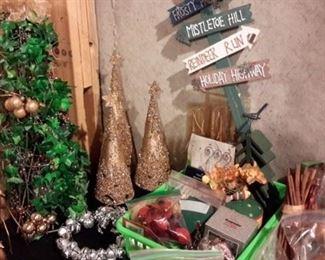 Christmas items.