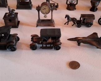 Copper finish and cast vintage pencil sharpeners.