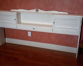 King sized headboard with storage.
