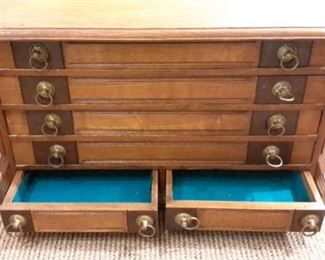 Vintage flat file cabinet.